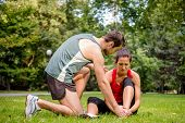 stock photo of muscle strain  - Sport injury  - JPG