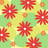 Colorful seamless floral pattern