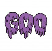 Vector drippy black goo text in purple
