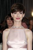 LOS ANGELES - FEB 24:  Anne Hathaway arrives at the 85th Academy Awards presenting the Oscars at the