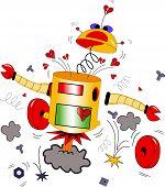 Robot con un corazón roto