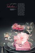 Valentine Day Romantic Table Setting