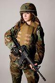 Постер, плакат: Армия девочка
