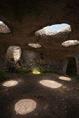 Постер, плакат: Карта древний пещерный город Эски Кермен