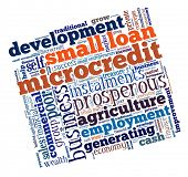 Microcredit in word collage