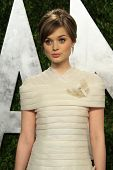 WEST HOLLYWOOD, CA - FEB 24: Bella Heathcote at the Vanity Fair Oscar Party at Sunset Tower on February 24, 2013 in West Hollywood, California