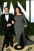 WEST HOLLYWOOD, CA - FEB 24: Melissa McCarthy, Ben Falcone at the Vanity Fair Oscar Party at Sunset Tower on February 24, 2013 in West Hollywood, California
