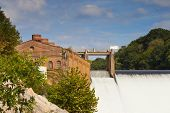 picture of dam  - Nolichucky Dam Green County Tennessee with running water - JPG