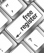 Free Register Computer Key Showing Internet Login
