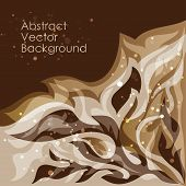 Leaves Background, Abstract Vector Illustration