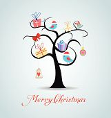 Merry christmas card and happy new year