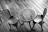 Effects Photo Of Steel Modern Chair And Table