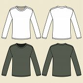 Black Long-sleeved T-shirt Template