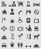 image of waiter  - Hotel icons set - JPG