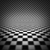 Render Of Checker Board