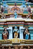Hindu religious art. Ancient statue of Gods