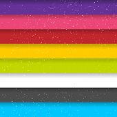 Rainbow Colored Stripes. Shiny Vector Background. Seamless Pattern