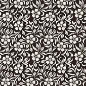 Seamless vintage floral pattern. Vector illustration.