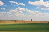 stock photo of prairie  - Prairie Farmland - JPG