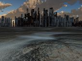 Abandoned City and baked earth