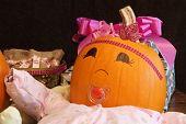 Happy Pumpkin Baby With Presents