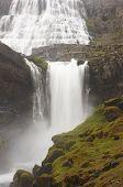 Iceland. Dynjandivogur Bay. Fjallfoss Waterfall.