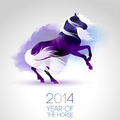2014, ano do horse.eps10 vector