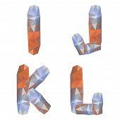 Geometric crystal alphabet