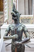 Close up of Nok Tantima Bird statue in Grand Palace of Bangkok