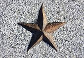 Red Star Carved In Stone