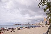 Benidorm, Spain - September 13, 2013: Beach Of Poniente