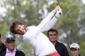 Edouard Espana at the golf Masters 13, 2013
