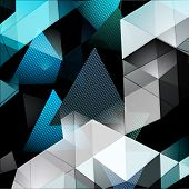 picture of triangular pyramids  - Triangular Abstract Background - JPG