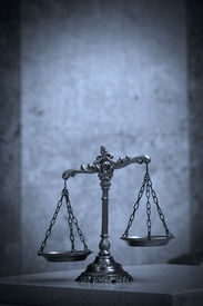 picture of jury  - Symbol of law and justice law and justice concept BLUE TONE - JPG