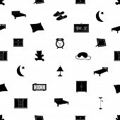 bedroom icons pattenr eps10