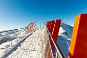 Cableway And Chairlift In Ski Resort Bad Gastein In Mountains, Austria. Austrian Alps - Nature And S