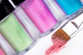 Make-up Brush And Tubes With Professional  Colour Pigment