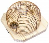 foto of mouse trap  - Mouse Trap Cage Isolated with Clipping Path - JPG