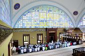 Istoc Mosque Ritual Of Worship Centered In Prayer, Istanbul, Turkey