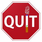Quit Smoking E Cigarettes Sign