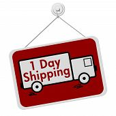 One Day Shipping Sign