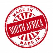Made In South Africa Grunge Rubber Stamp
