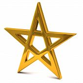 Five pointed golden star