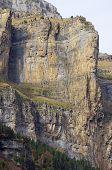 rocky pinnacle in the walls of Ordesa national park, Pyrenees, Spain