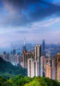 Cityscape der moderne Wolkenkratzer in Hong kong