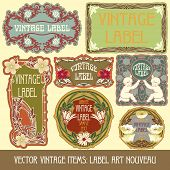 label Art Nouveau