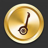 Segway Icons on Gold Button Collection