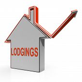 Lodgings House Shows Accommodation Or Residency Vacancy