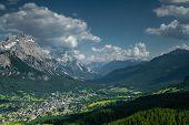 Utsikt över Cortina D'Ampezzo