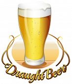 stock photo of draught-board  - Illustration of the draught beer label on a white background - JPG